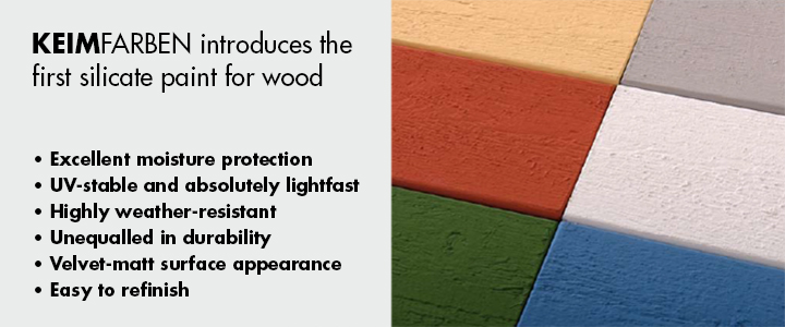 KEIMFARBEN introduces the first silicate paint for wood